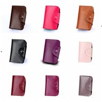 Unisex Kleine Lederkartenhalter mit Knopf Slim Wallet Visitenkarten Fall Orgel Kartenhalter Aufbewahrungsbeutel 15 Slots 12 Slots HHF6332