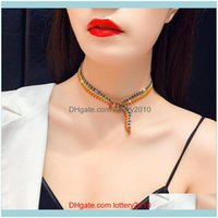 Pendant Necklaces & Pendants Jewelrysexy Fashion European And American Locks 5 Rows Diamond-Studded Net Red Necklace Aessories For Party Sup