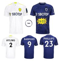 21/22 Leeds Leeds United Soccer Jersey 2021 Accueil Alioski Cooper T Roberts Jansson Bamford Hernandez Klich Phillips Maillots Chemises de football Uniformes