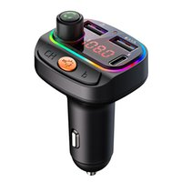bluetooth kit Colorful lights fm transmitter QC3.0 PD fast charge mp3 player with BT car charger c14 c15