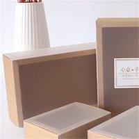 9 tailles Boîte d'emballage de cadeau blanc Kraft Black White with Window Kraft Carton Cadeau Paper Papier Cadeau avec carton Couvercle Carton 622 R2