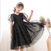 3 18y Teens Kids Girl Dress For Girls Elegant Star Mesh Princess Childrens Wedding Party Clothing