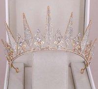 Gorgeous Princess Big Wedding Crowns Bridal Jewel Headpieces Tiaras Women Silver Metal Crystal European Fashion Accessories