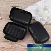Soap Dishes 2Pcs Travel Box Sealing Waterproof Seal Buckle Portable Dish Basket Holder For Men Home Black