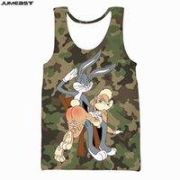 Jumeast Brand Men Women 3D Printed Vest Cartoon Anime Bugs Bunny Camouflage Short Sleeve Sport Pullover Summer Tank Tops Tees