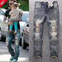 2021 Nuevos jeans para hombres europeos y americanos lavados Pantalones rectos Jeanss Vintage High-End Stretch Slim Small Straight Star Mismo Estilo