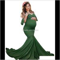 Mutterschaftskleider für PO Shooting Schwangere Frauen Sexy Schulterlos Meerjungfrau Kleidung Schwangerschaftskleid Babyparty Pografie Requisiten 267 QQQTJ MHSJ4