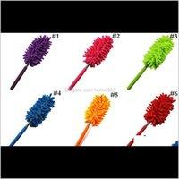 Домохозяйственные инструменты Домохозяйственная организация Гардецберескними пылью для удаления пыли Портативная длинная ручка Удлинитель Duster для домашней спальни автомобиля