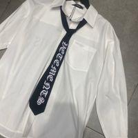 2021 قمصان بيضاء الرجال النساء فضفاضة رسالة عودة طباعة قميص بلوزة الجبهة الجبهة