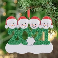 2021 راتنج شخصية ثلج عائلة من 4 شجرة عيد الميلاد زخرفة هدية مخصصة لأمي، أبي، كيد، الجدة، الجد، الأصدقاء by28