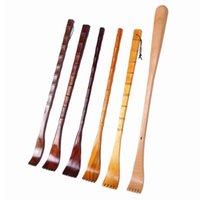 6 pc Longa Madeira Natural Back Scratcer Massager Caneta Clipe Handy Manualmente Body Stick