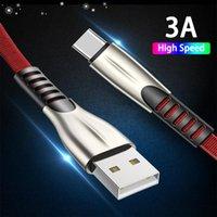 Титановый сплав Высокоскоростной 3А Клеточный кабель Быстрая зарядное устройство Micro USB Тип C Зарядные кабели 1 м 2 м 3М для Samsung LG Android Телефон плоская линия данных MQ200