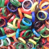Solitaire rings smyckenfärisk färg natursten bredd 6mm agat ring smycken hand cirkel smycken för kvinnor män droppe leverans 2021 nac9q