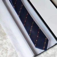 Le cravatte da uomo 8.0 cm cravatta del collo di seta a strisce legami per gli uomini Festa di nozze d'affari formale con scatola regalo