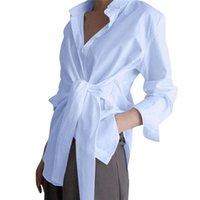 Bayanlar Mizaç Katı Renk Bluz OL Shirt Giysi Yaz Sonbahar Kızlar Kişiselleştirilmiş Gömlek Kadın Yaka Uzun Kollu Üst Kadın Bluzlar