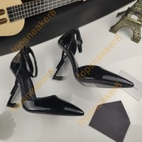 여성 파리 드레스 신발 Luxurys 디자이너 높은 굽 골드 블랙 골든 레드 하단 10cm 발 뒤꿈치