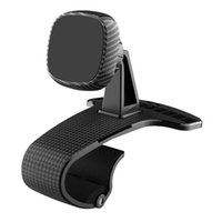 Universal Car Mobile Phone Holder 360 Degree Rotating Clip-on Magnetic Dashboard Mount GPS Stand Bracket With Parking Card