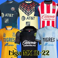 21 22 club america camisas de futebol UANL Tigres chivas Guadalajara 2021 2022 mx liga football shirt