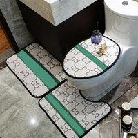 6 Patrones Cubiertas de asiento de inodoro Manos de la moda Hombres Mujeres Juego de tres piezas Interior al aire libre antideslizante Accesorios de baño
