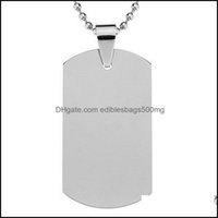 Tag,Id Card Supplies Home & Gardenstainless Steel Cat Dog Tag Casual Shape Blank Military Cards High Hardness Pet Tags 2Gg Bb Drop Delivery