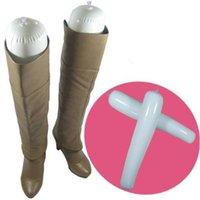 1 Çift Çizmeler Standı Tutucu Uzun Boylu Ayakkabı Raf Desteği Şişme PVC Uzun Kadın Ayakkabı Sedye Ayakkabı Ağaçları Organizatör Depolama 32/50 cm