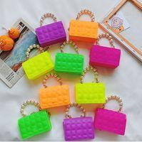 designer baby girls handbags fashion kids candby colors letter plaid casua wallet INS princess children chain mesenger bags women mini purse F596