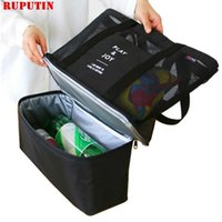 Bag Organisateur Ruputin Picnic Double refroidisseur Multifunction Mains Baby Couche Sacs Bouteilles Glace Portable Bière