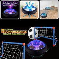 Portable Air power hover football mini sports magic toys baby toy ball indoor play games kids start led flash light Family game