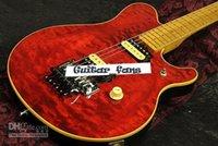 Música Hombre Axis Eddie Edward Van Halen Guitarra Eléctrica Rojo Flame Maple Maple Top, Puente Tremolo de Floyd Rose, Tuerca de bloqueo, Sintonizadores de la vendimia, Pastillas de cebra