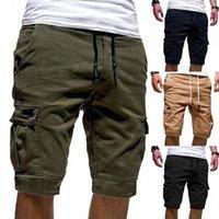 Hot Mens Cargo Shorts 2020 Новая армия камуфляж шорты мужские хлопковые свободные работы повседневные короткие штаны Multi-Pockets Plus Размер M-2XL S4PJ #