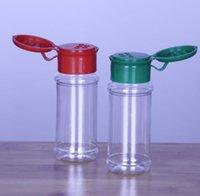 Boş plastik baharat şişeleri barbekü sosu depolamak için set tuz biber, glitter çalkalayıcılar şişe kavanoz 60 ml / 2 oz sn2354