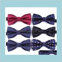 Accesorios Sólido Moda Bowties Groom Hombres Colorida Plaid Cravat Gravata Mascule Matrimonio Mariposa Mariposa Boda Body Bout Bow Lazs Entrega Drop 2021