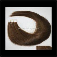 Clip Virgin Products Drop Lieferung 2021 Großhandel 2Dot5g / PCs 40pc / lot 14-2000000percent Menschliches Band in Haarverlängerungen Remy Indianer Brazilian