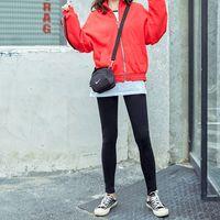 Scoorbee mulheres sólidas veludo cangings de algodão novo moda outono e inverno calças calças quentes espessamento cashmere calças femininas lj201104