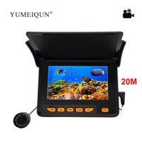 4,3 Zoll Farbe LCD-Monitor Angelfinder 20m Kabel 8 Stück Infrarotlampe Unterwassereis IP68 Wasserdichte Kamera Fische