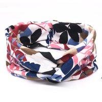 유럽 및 미국 패션 요가 머리띠 기질 인쇄 매듭이있는 숙녀 의견 머리띠 머리띠 쥬얼리 헤어 액세서리 LLA7434