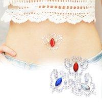3PCS Fake Button Rings Sticker Belly Faux s Ombligo Non Piercing Navel Ring Body Jewerlry
