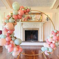 Party Decoration Circle Wedding Arch Balloon Support Kit Props Birthday Decor Wrought Shelf Stage Background Frame Iron Ring Backdrop