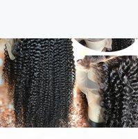 Parrucca anteriore del pizzo riccio di Kinky 13x4 lunghe parting preplosed hatline 10a parrucca di capelli umani della Virgin Malaysian Parrucca full pizzo per nero wome