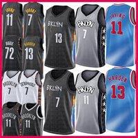 Homens 7 Kyrie 11 Kevin 72 Irving Biggie Durant 13 endurecer Baskasabll Jersey Mens 2021 Nova NCAA Jerseys Black Cinza Azul Branco BrooklynInternet