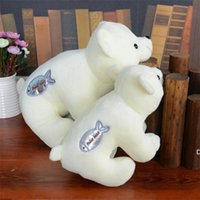 봉제 장난감 북극곰 인형주는 귀여운 소녀 크리 에이 티브 선물 작은 흰색 곰 기계 어린이 게임 hwf6716