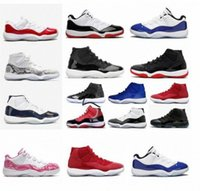 Männer furchtlos 11 11s Concord Bred High Space Jam Herren Womens Schuhe Cap Kleid Gamma Blue Jumpman 23 Sneakers Trainer Satin Obsidian Mokka T8U1 #