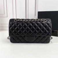 5A + Top Quality CF Chain Saco Luxo Designs Mulheres Handbags 2021 Couro Clássico Crossbody Bolsa de Bolsa de Cordeiros Embreagem de Ombro Pequeno Flap Wallet Atacado
