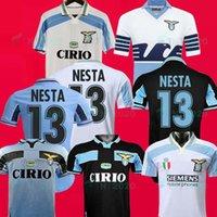 1999 2000 2001 Lazio Jerseys Klose 11 Retro Sergej 115 تذكارية الطبعة 2014 2015 Soccer Jersey Nesta 13 Home Maglietta Da Calciatore