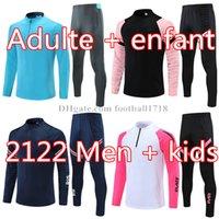 21 22 الرجال كرة القدم رياضية ريال مدريد لكرة القدم دعوى التدريب 2021 2022 رجل الاطفال mbappe survetement mailleots دي القدم تشاندال tuta الركض