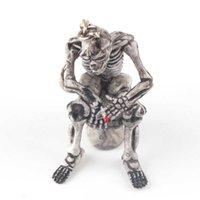 1 pz Creativo Skull Toilet Borsa Borsa Gomma Portachiavi Portachiavi auto Ornamento Auto Accessori Ciondolo Charm Ciondolo Divertenti Regali divertenti
