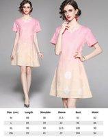 2021 Ribbon Bow Shirt Dressr Runway Mujeres Impreso Manga corta solapa Oficina Casual Mini Vestidos Hermosas señoras Slim Summer Party Ropa de baile