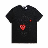 Beste Qualität Grau Com des G Garcons CDG Holiday Heart CDG Play T-Shirt T-Shirt Gezeitenmarke Pfirsich Baumwolle T-Shirt Herz Liebhaber Buchstaben