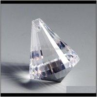 Хрустальные алмазные шариковые подвески Освещение бусины стеклянные частей люстры Prism занавес DIY ремесел висит орнамент KD2CG Ryfhg