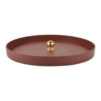 Schmuckschale Runde Metall für Süße und kleine Objekte Desktop Wohnkultur Aufbewahrungstabletts für Halskette